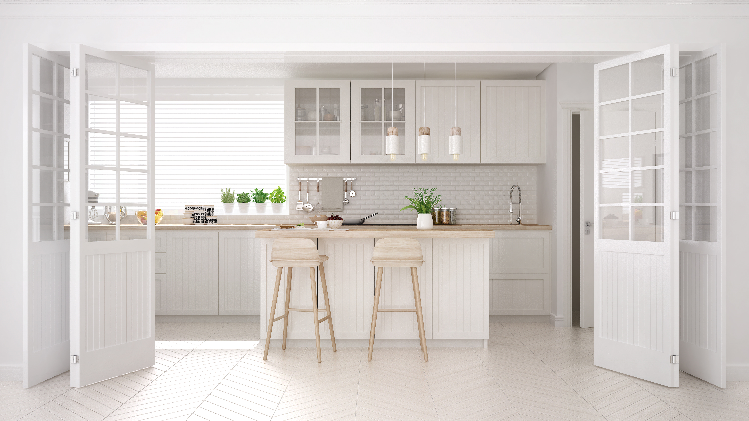 How To Keep Your White Kitchen Clean Cleaning White Countertops And White Cabinets Cabinet Magic